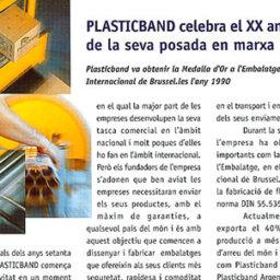 plasticband aniversario embalaje