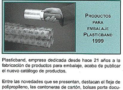 embalaje plasticband 1999