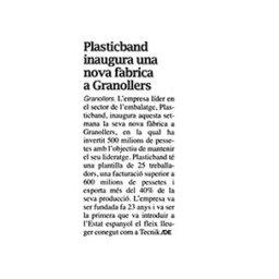 nueva fabrica plasticband granollers