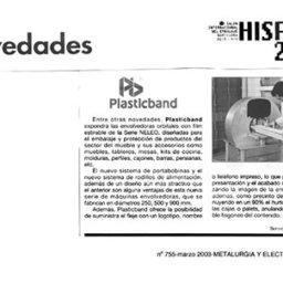 novedades 2003 hispack plasticband
