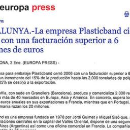 produccion plasticband 2006