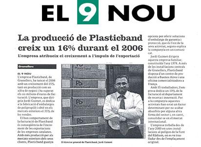 crece produccion plasticband 2006