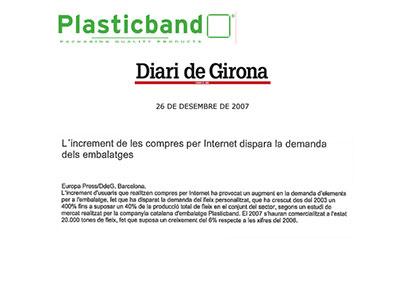 Incremento compras Plasticband 2007