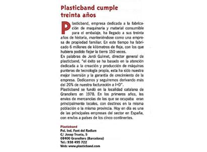 30 años plasticband