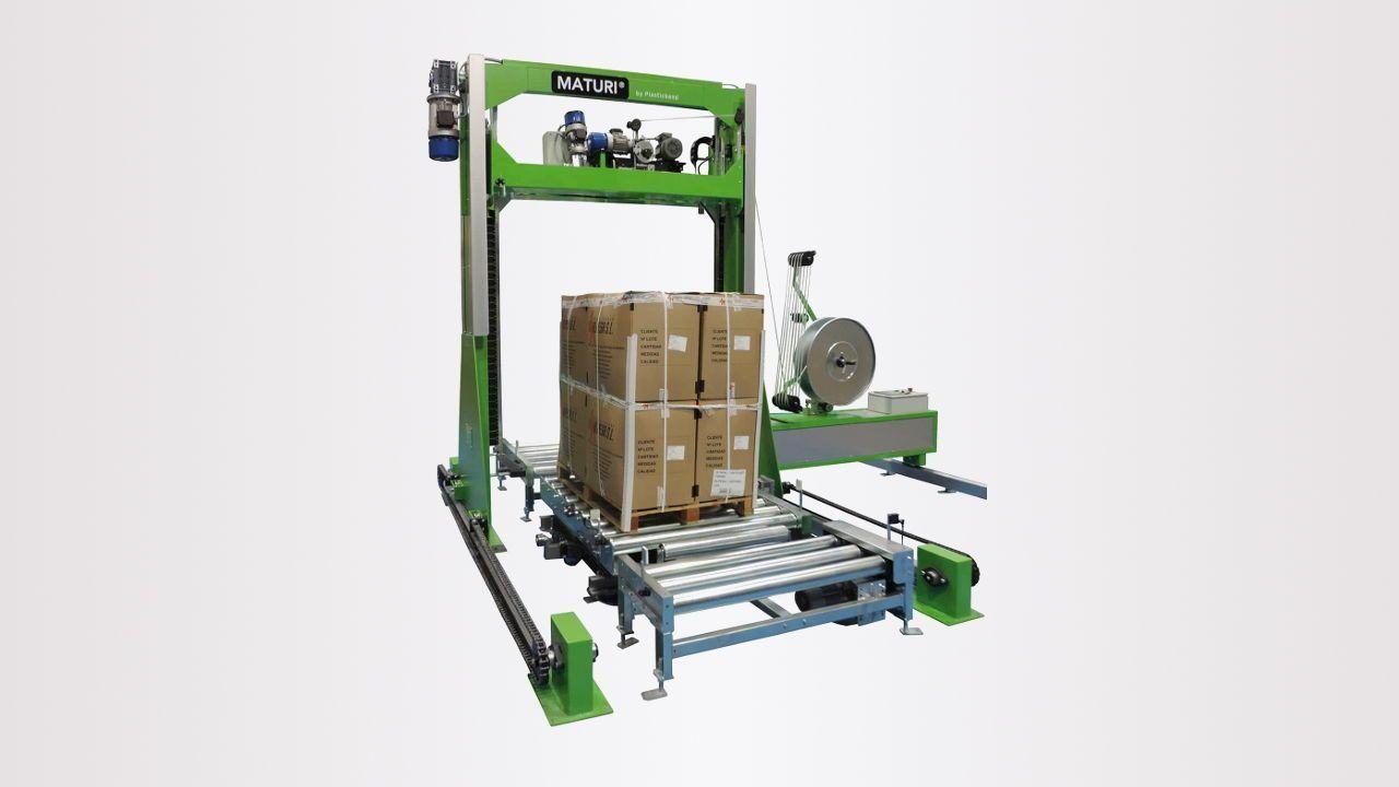 Máquina automática de cintar paletes vertical Maturi® V