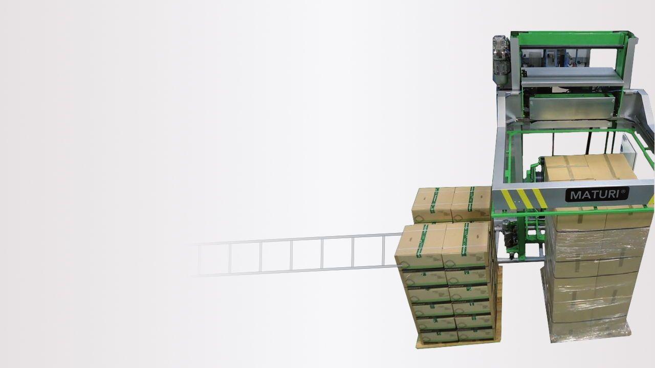 Máquina automática de cintar paletes Maturi® Kanban