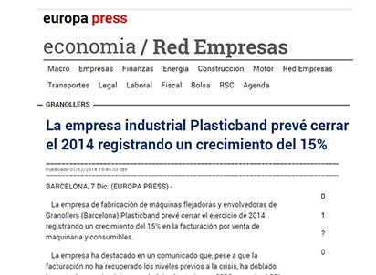 plasticband crecimiento 2014