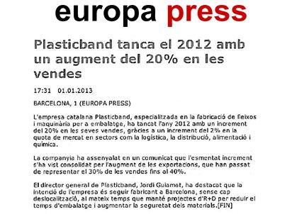 plasticband ventas 2012