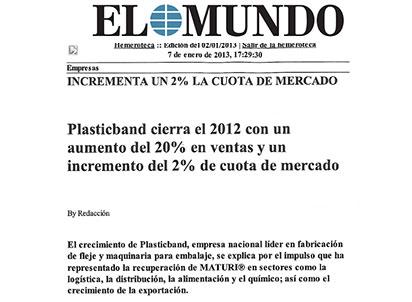 ventas plasticband 2012
