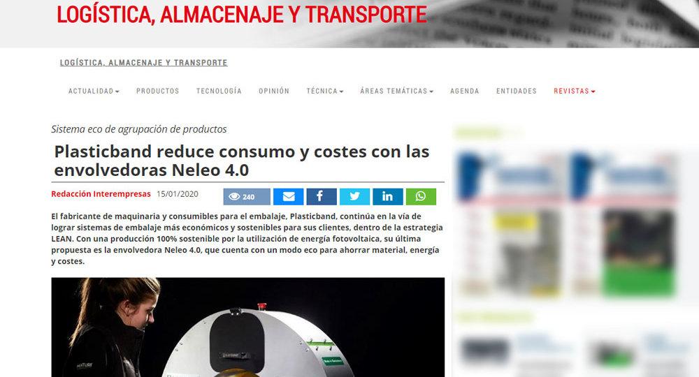 Plasticband reduce consumo y costes con las envolvedoras Neleo 4.0