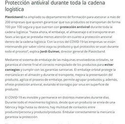 Protección antiviral durante toda la cadena logística