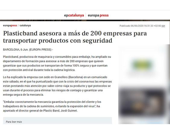 Plasticband asesora a más de 200 empresas para transportar productos con seguridad