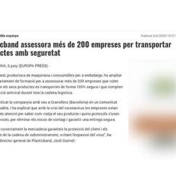 Plasticband assessora més de 200 empreses per transportar productes amb seguretat