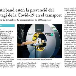 Plasticband estén la prevenció del contagi de la Covid-19 en el transport