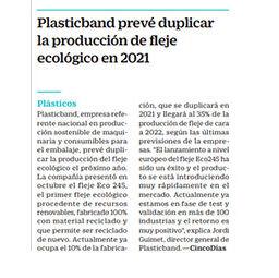 Plasticband duplicará la producción de fleje ecológico en 2021