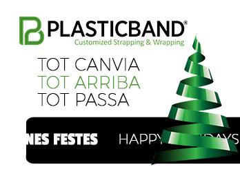 Plasticband vol desitjar-vos unes Bones Festes