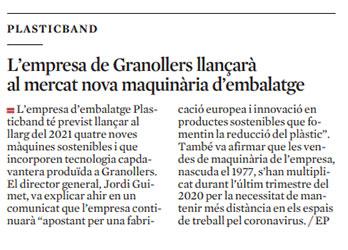Plasticband-de-Granollers-llancara-nova-maquinaria-embalatge