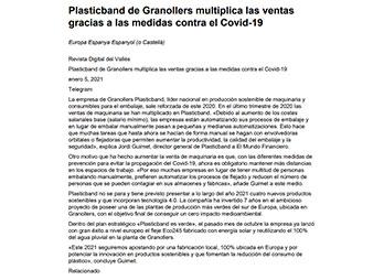 Economía-Laboral Plasticband de Granollers multiplica las ventas gracias a las medidas contra el Covid-19