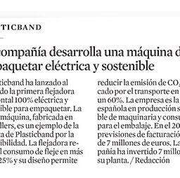 Plasticband crea la primera flejadora horizontal 100% eléctrica