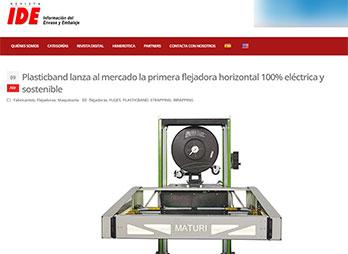 primera flejadora horizontal 100% eléctrica y sostenible