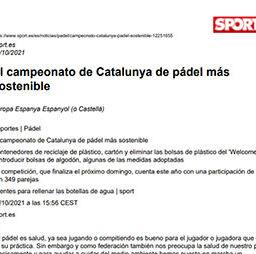 El campeonato de Catalunya de pádel más sostenible